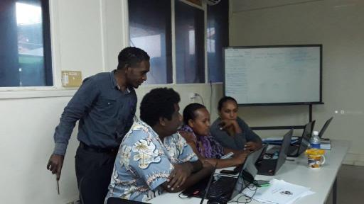 OAG Staff in discussions during the training (Photo OAG)