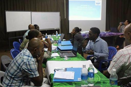 OAG Staff holding discussions during training (Photo OAG)